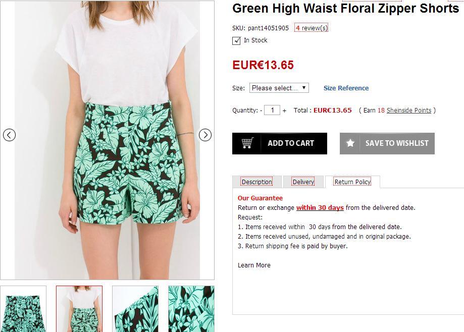 Selección de prendas de moda - Shorts de flores de Zara