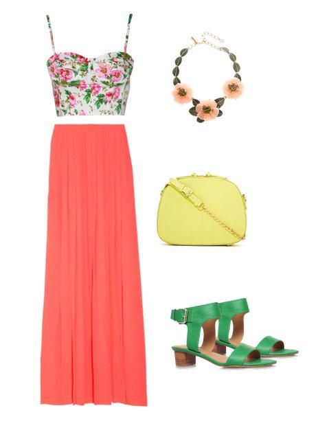 Cómo combinar una falda larga - Mucho color