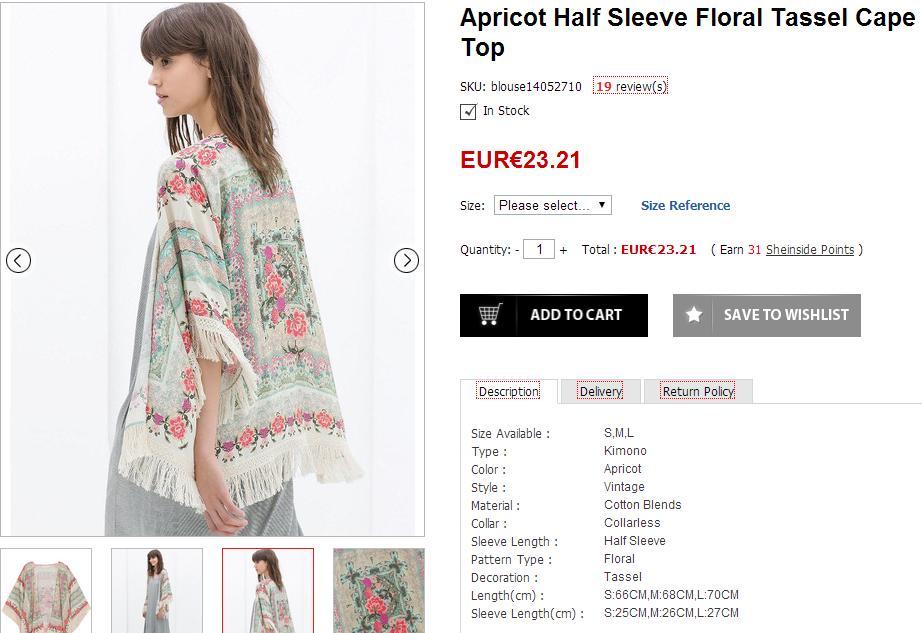 Selección de prendas para el verano - Kimono de Zara