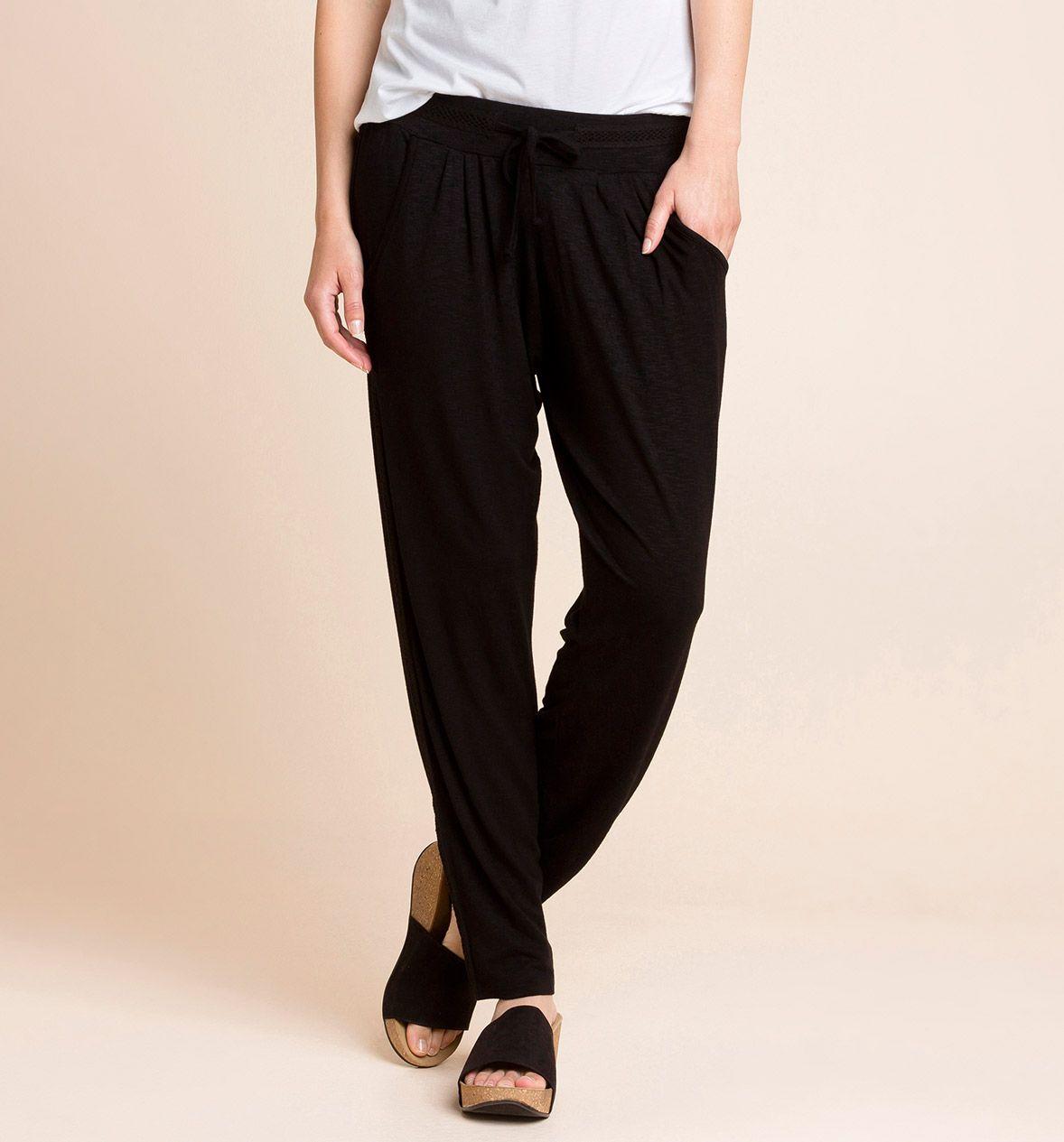 Pantalones fluidos negros