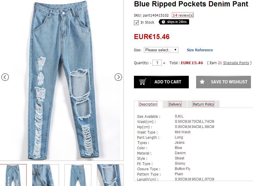 Selección de prendas para el verano - Ripped jeans