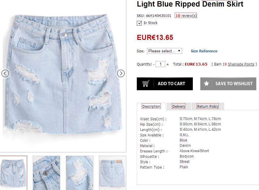 Selección de prendas para el verano - Ripped skirt