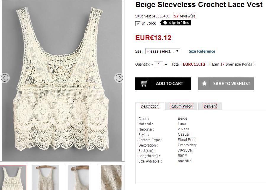 Selección de prendas para el verano - Top de crochet