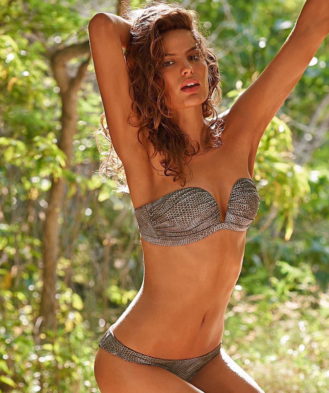Bikini de estampado de serpiente