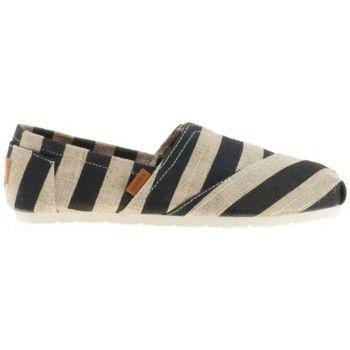 Zapatillas de esparto - Gris y negro