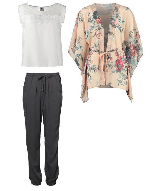 Vero Moda - Look 1 - Pantalón beduino, camisa y kimono
