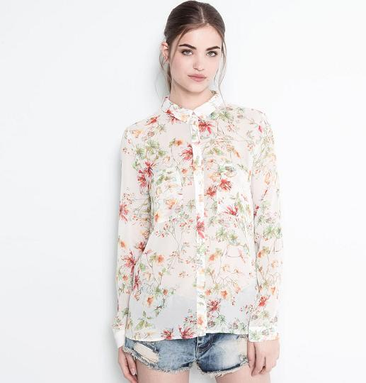 Pull and Bear online - Camisa tropical