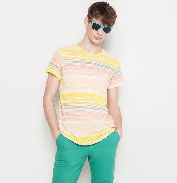 Pull and Bear online - Camiseta de rayas