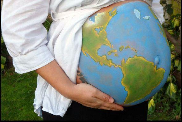 Body painting en barrigas de embarazadas - Eres mi Mundo