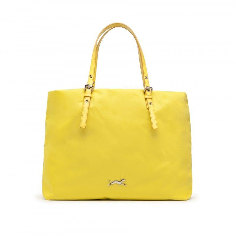 Bolso Bimba y Lola - Shopping de lona y piel amarillo