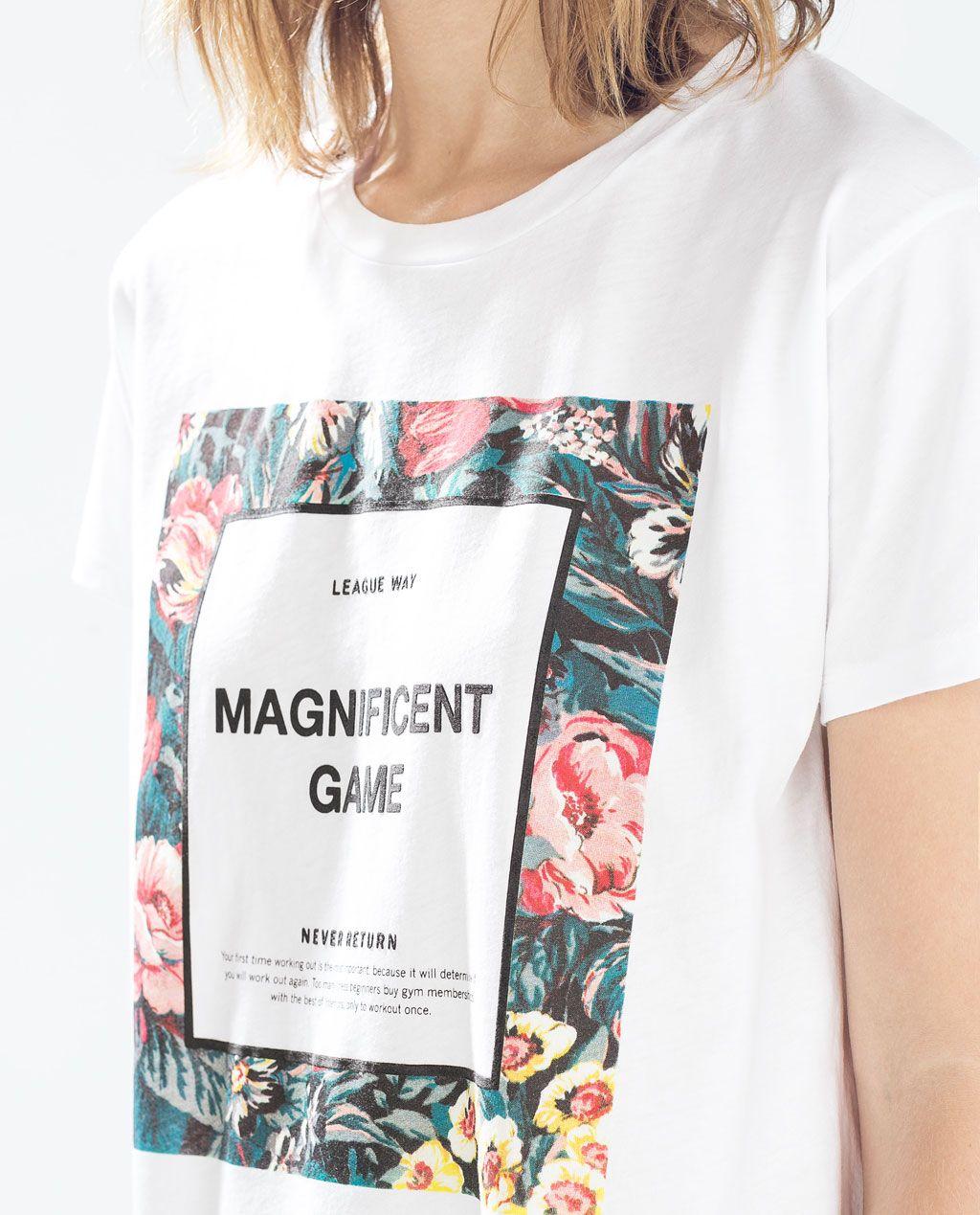 Catálogo Zara Trafaluc - Camiseta con mensaje