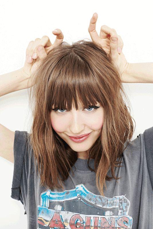 Peinados media melena con flequillo