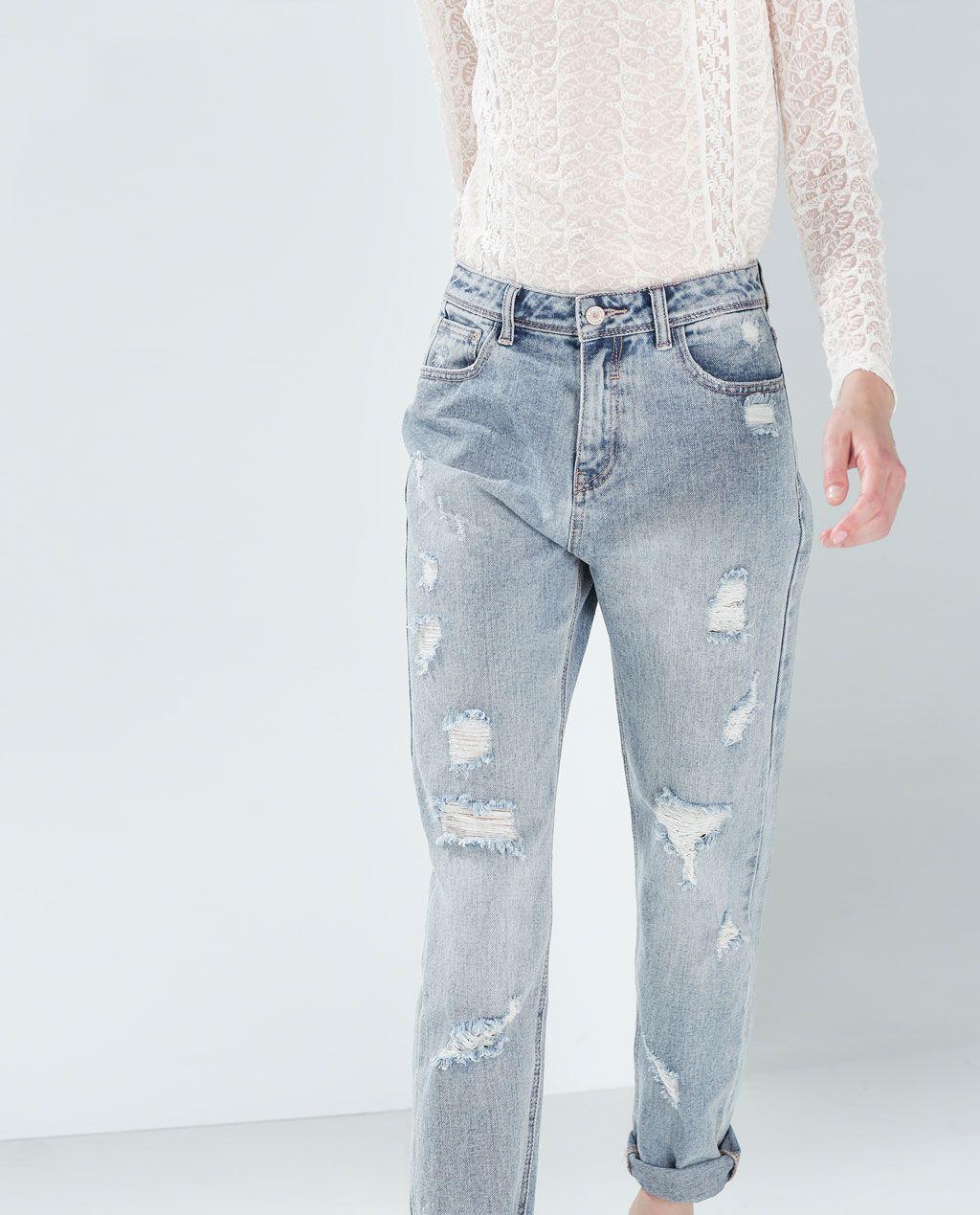 Catálogo Zara Trafaluc - Mom jeans rotos
