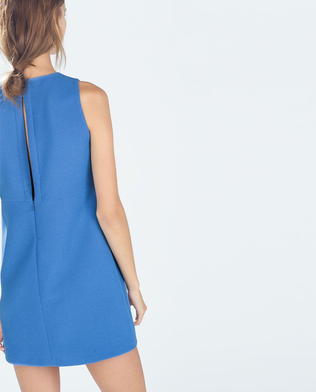 Catálogo Zara Trafaluc - Vestido color azul