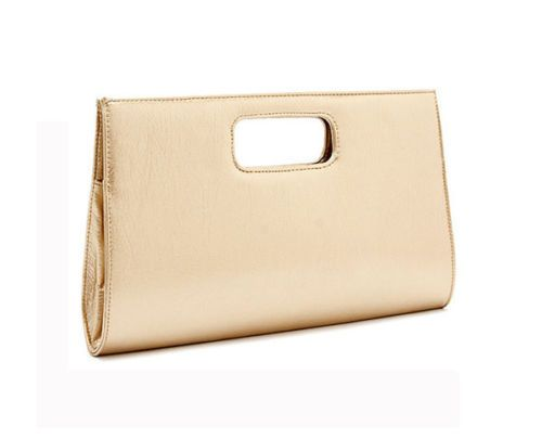 Bolsos de fiesta baratos - Clutch dorado con asa