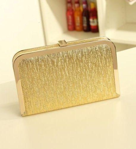 Bolsos de fiesta - Clutch plano dorado