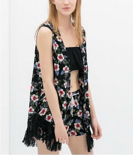 Kimonos de Zara - Kimono sin mangas