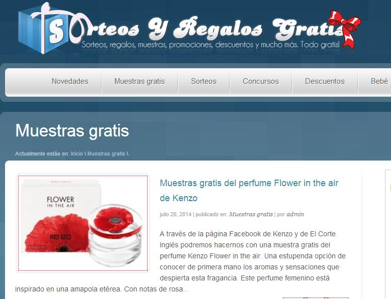 Muestras gratuitas en sorteosyregalosgratis.com