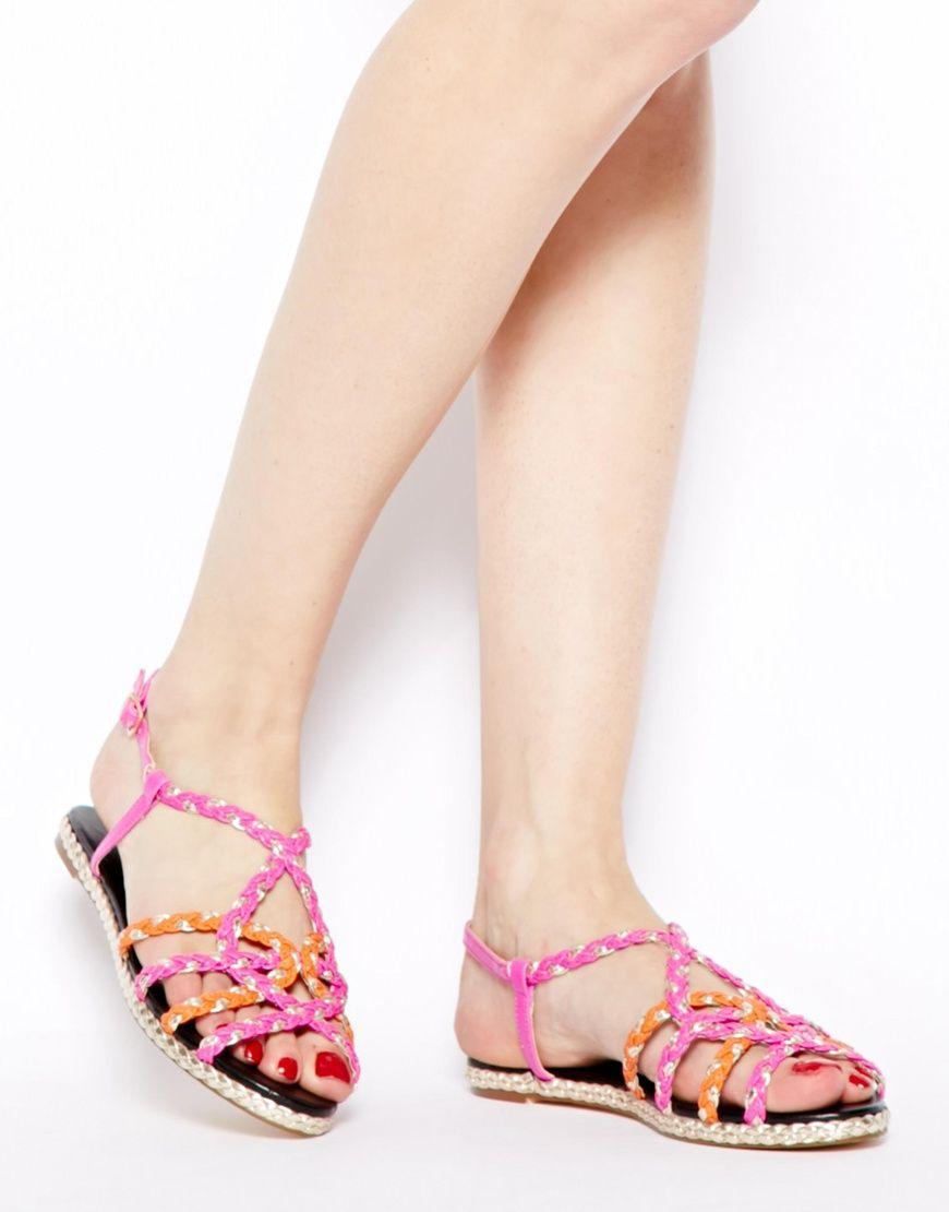 Sandalias de cuerda trenzada