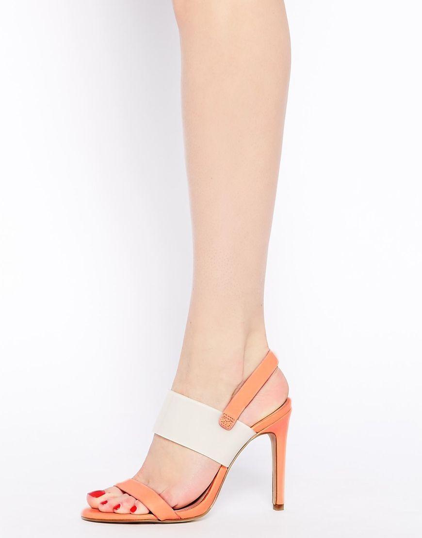 Sandalias de tacón dos colores