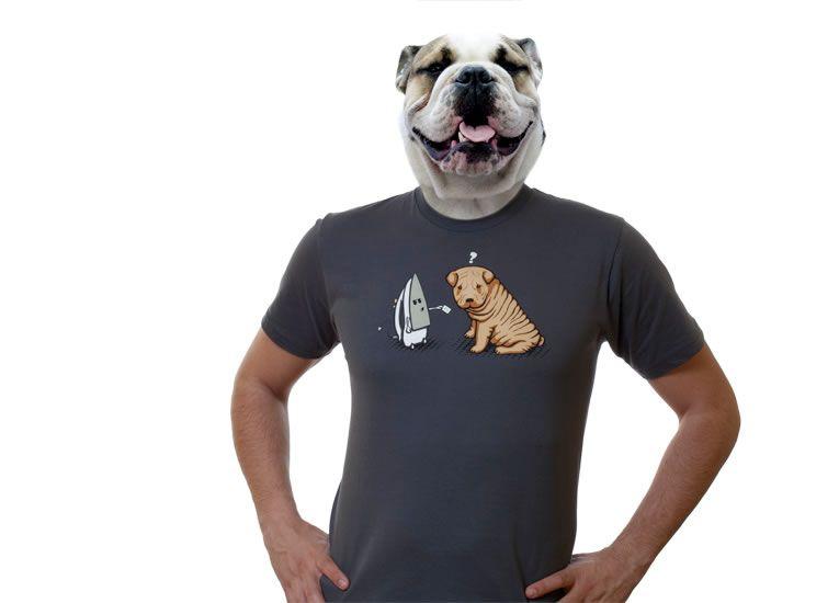 Camisetas originales baratas online - Perro plancha