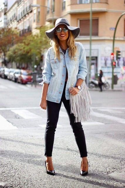 Combinar un sombrero en otoño