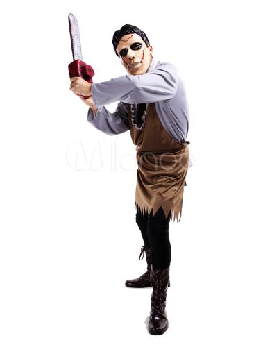 Disfraz de Halloween de loco con sierra