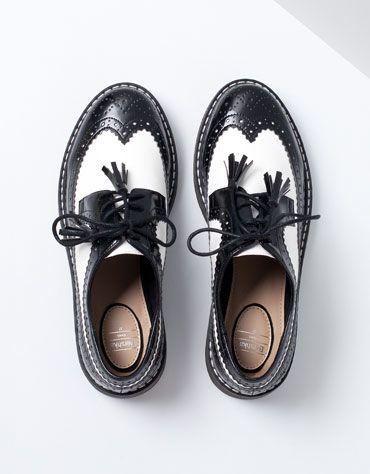 Zapatos Bershka - Mocasines bicolor