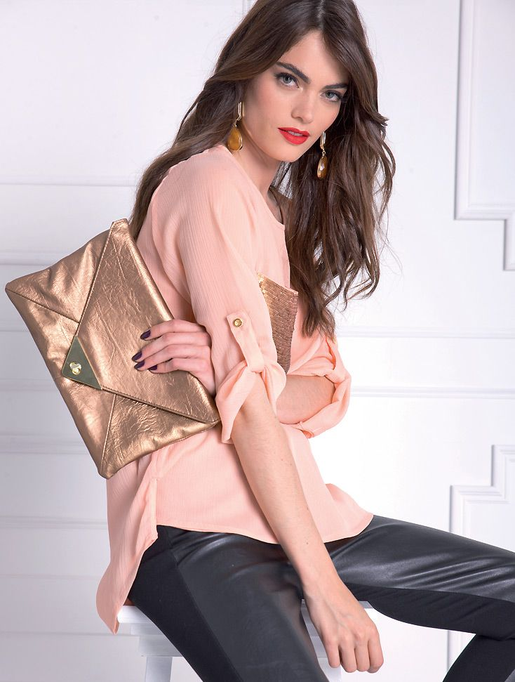Almatrichi online - Camisa rosa salmón