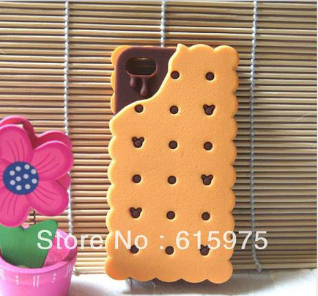 Funda para iPhone de galleta con chocolate