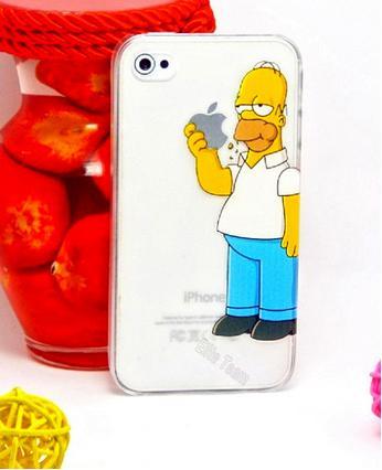 Funda para iPhone de Homer comiéndose la manzana