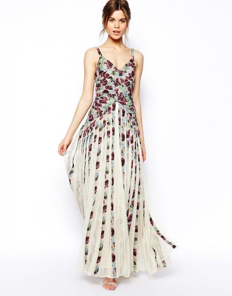 Vestido a rayas con flores