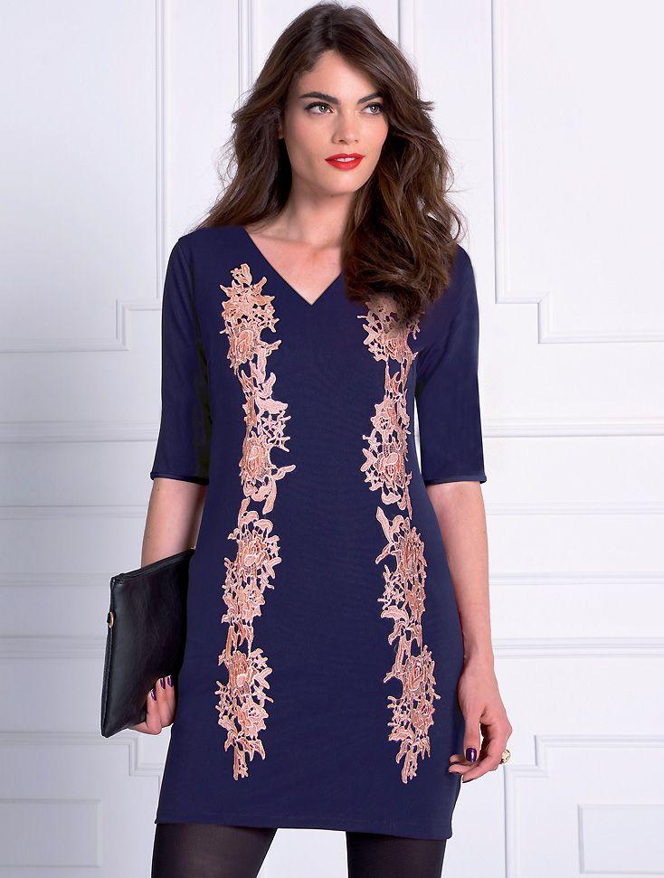 Almatrichi online - Vestido azul y dorado