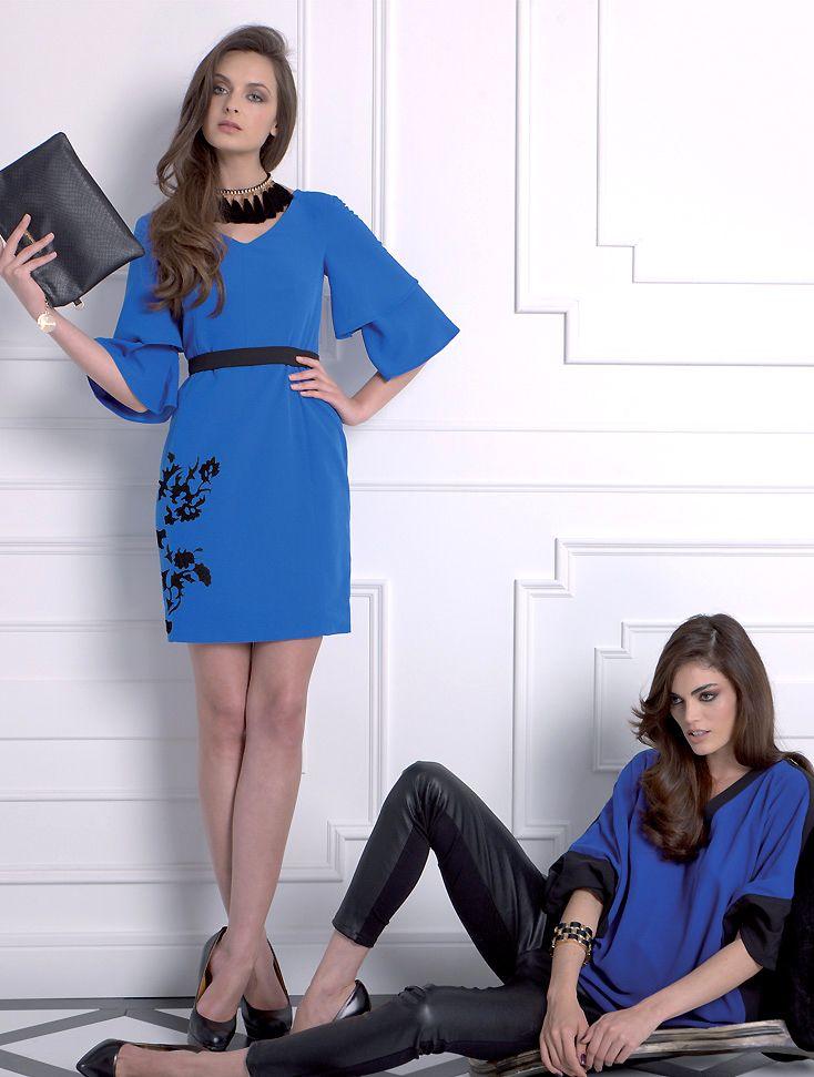 Almatrichi online - Vestido azul. Top y pantalón