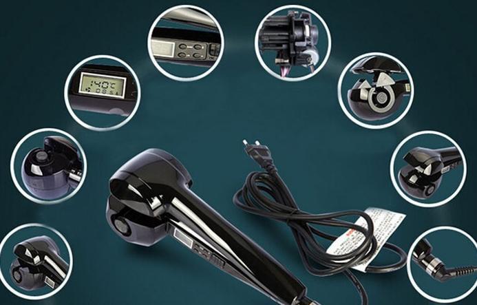 Peinados de fiesta sencillos -Rizador con monitor de temperatura