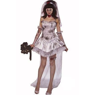 Disfraz de Halloween de novia zombie