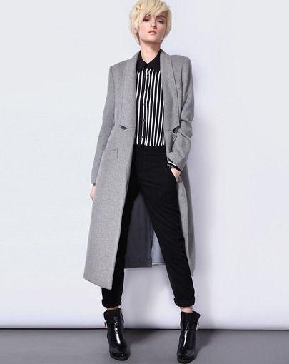 Abrigos de temporada - Abrigo gris largo