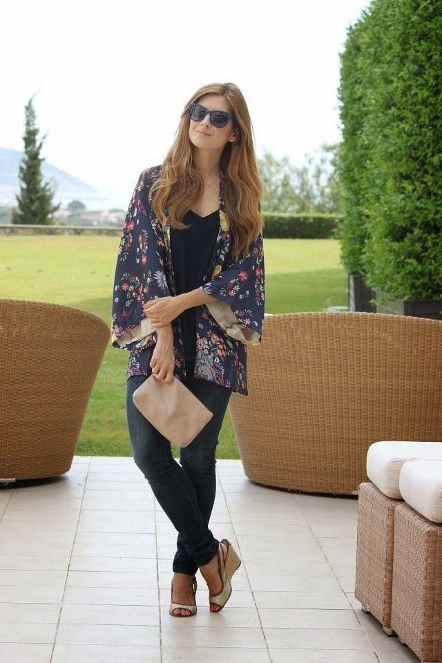 Combinar un kimono en otoño