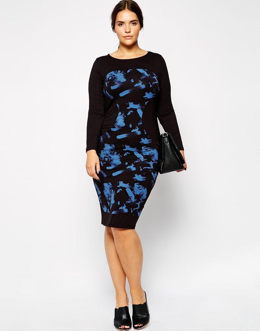Vestidos de fiesta de tallas grandes - Vestido negro y azul