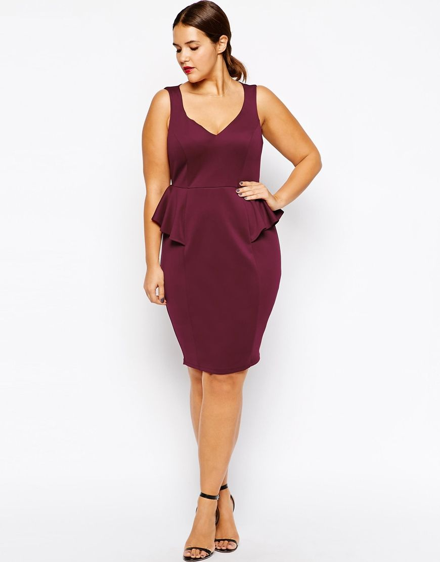Vestidos tallas grandes - Vestido peplum