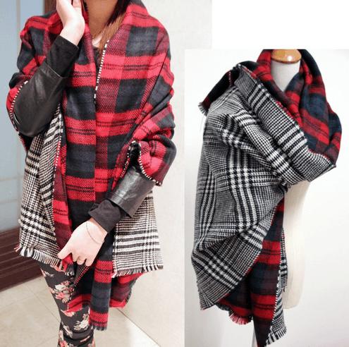 Maxi bufandas Zara doble capa