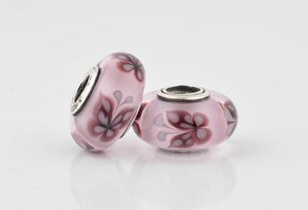 Cuenta de crista de murano rosa