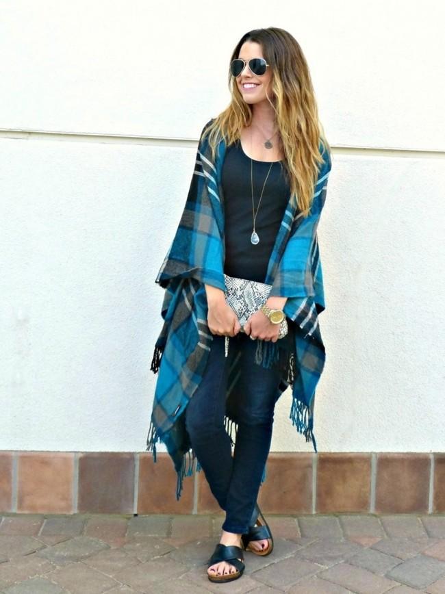 Como llevar bufanda manta