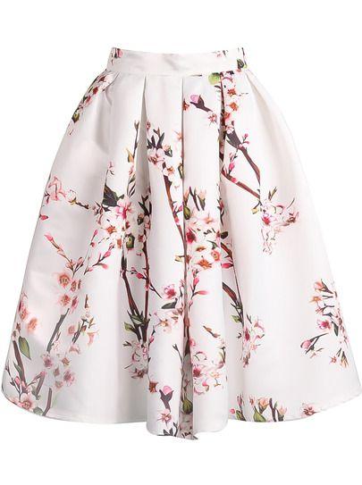 Faldas midi con vuelo de flores