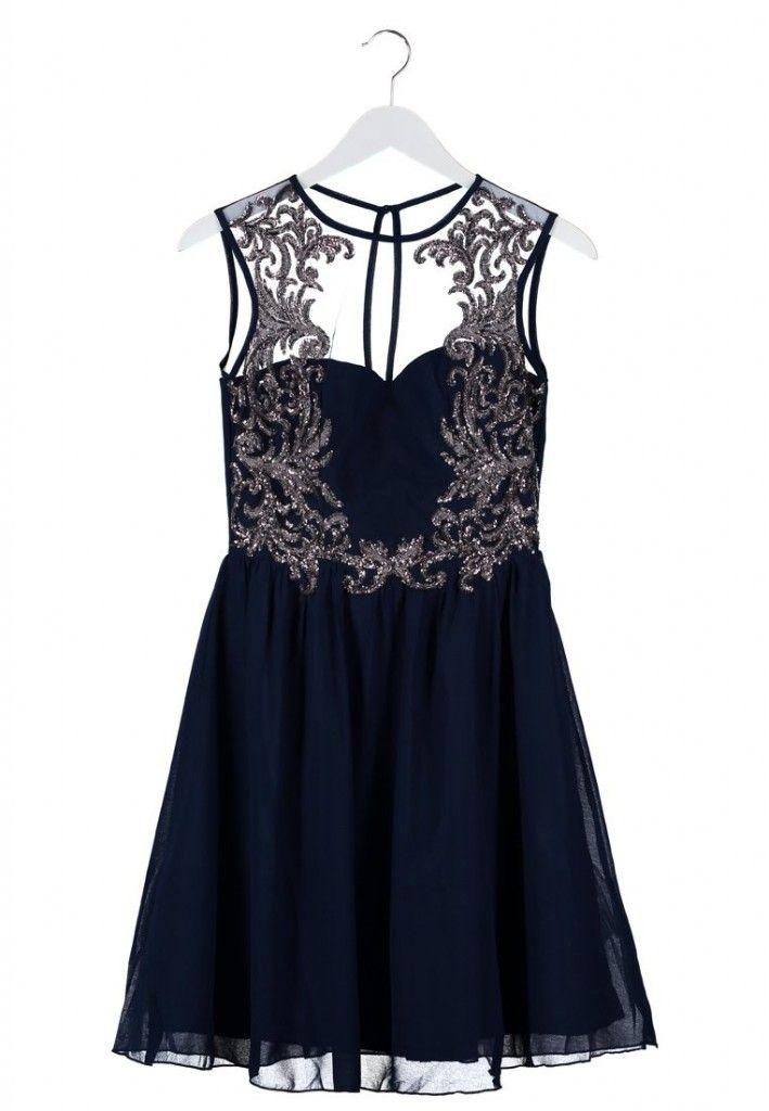Vestido azul nochebuena