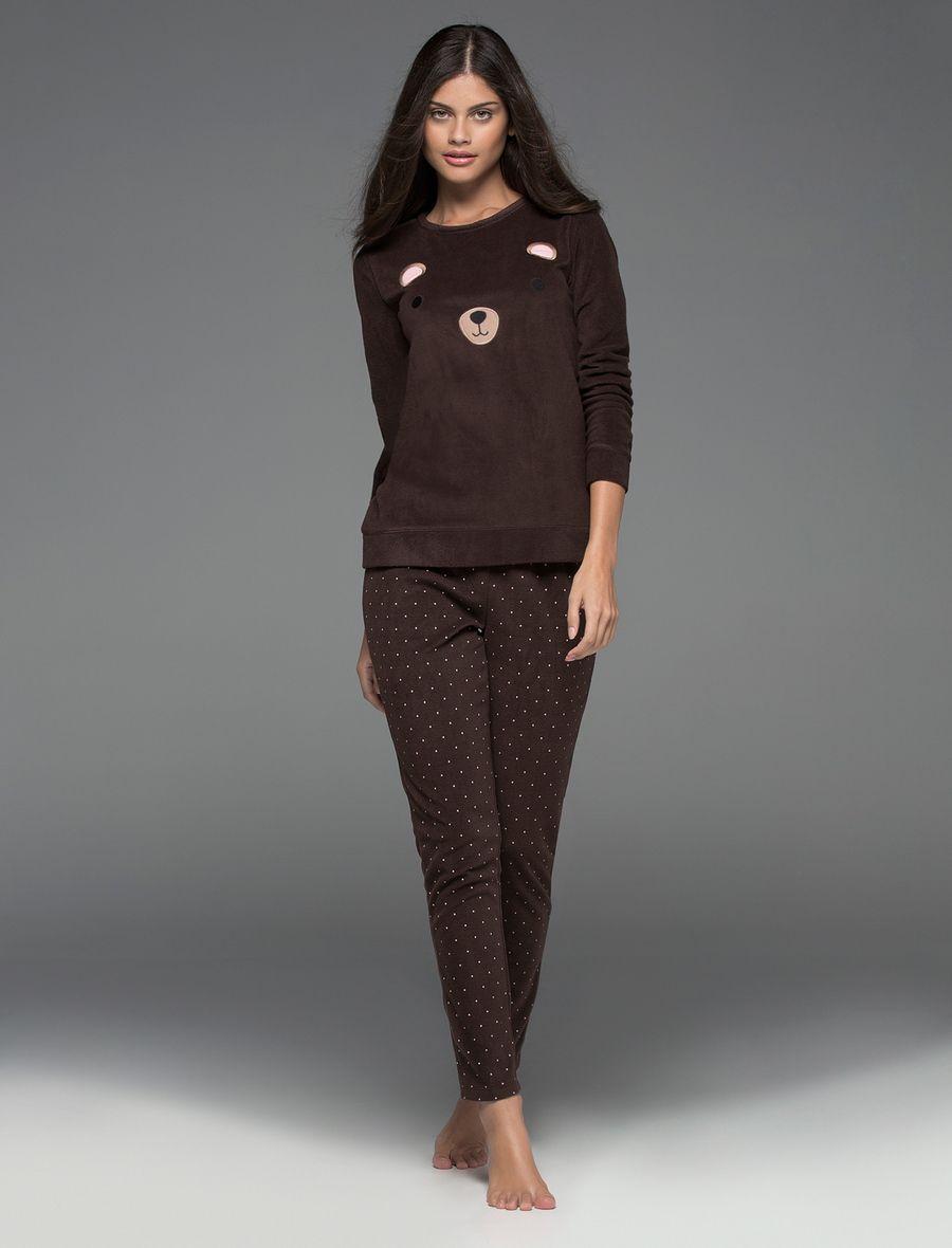 Pijama marrón de oso