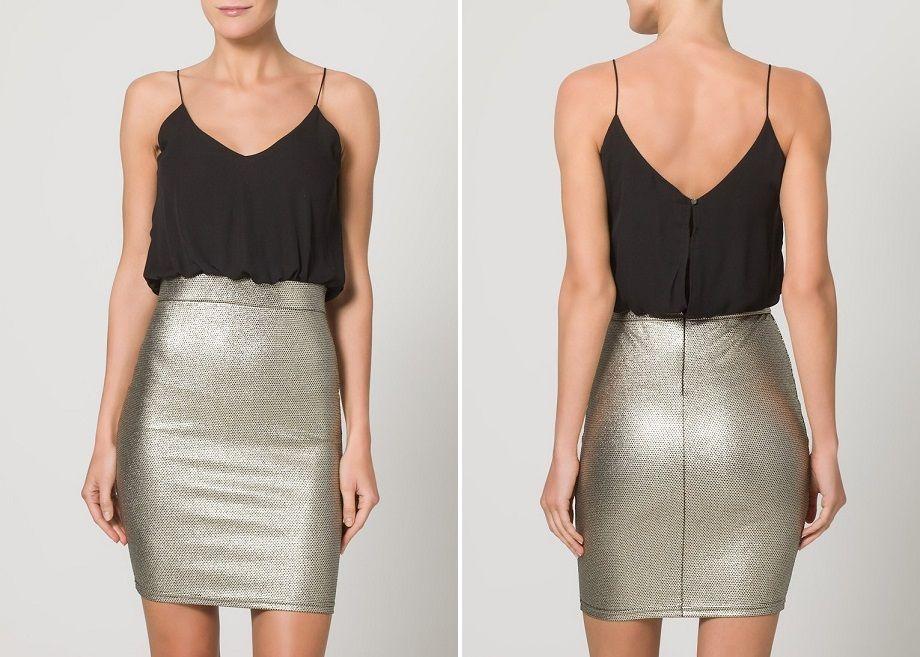 Vestidos de cóctel con falda en dos modelos
