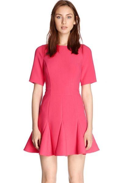 Vestido de textura neopreno
