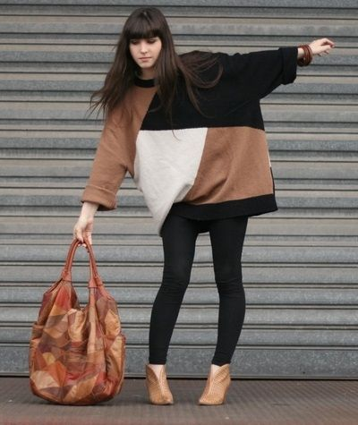 Jersey oversize con leggins