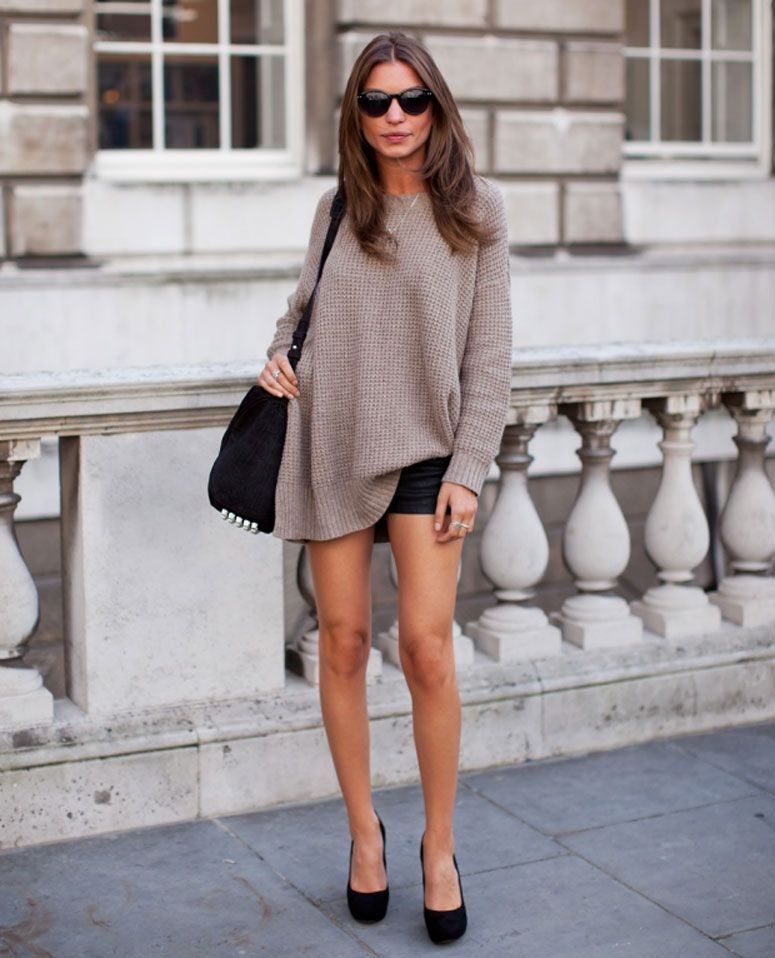 Jersey oversize con shorts